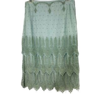 Anthropologie odille Lace Skirt Size 2 Rhinestone